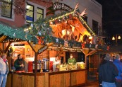 Warm, spicy gluhwein, a staple at the European Christmas Markets, wards off the winter chill.