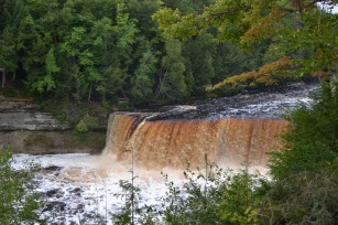 Coca-cola falls at Tahquamenon State Park, UP, Michigan