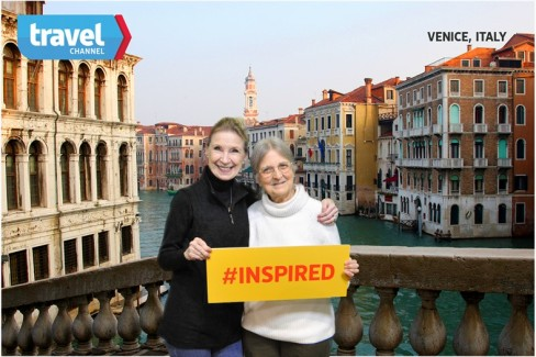 Pam and Brenda are dreaming of Venice at the Chicago Travel and Adventure Show