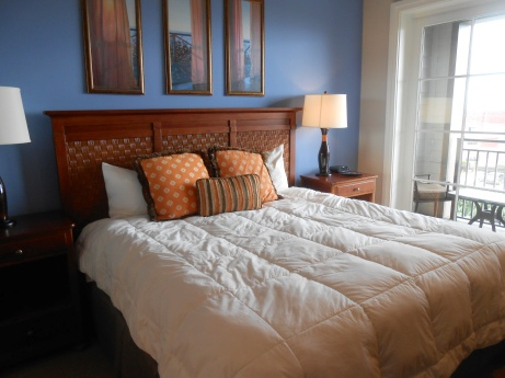 Master bedroom at WaterHouse Residences.