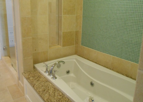 Whirlpool tub in the master bedroom suite.