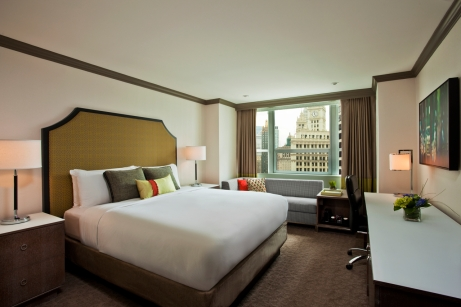 Newly renovated Grand Tower King guest room.