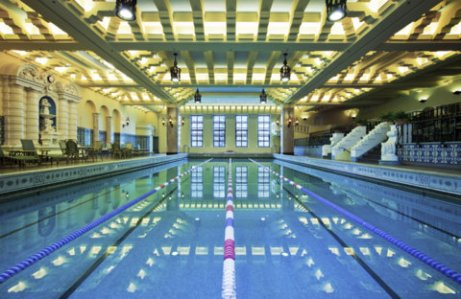 Indoor swimming pool on 14th floor was an engineering feat in 1929.