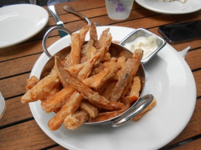 Sweet potato fries at Bud & Alleys.