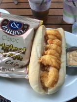 Shrimp po boy at Bud & Alleys.