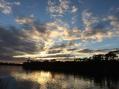 October sunset on Lake Powell, Fla.