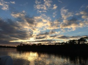 October sunset on Lake Powell, Fla.
