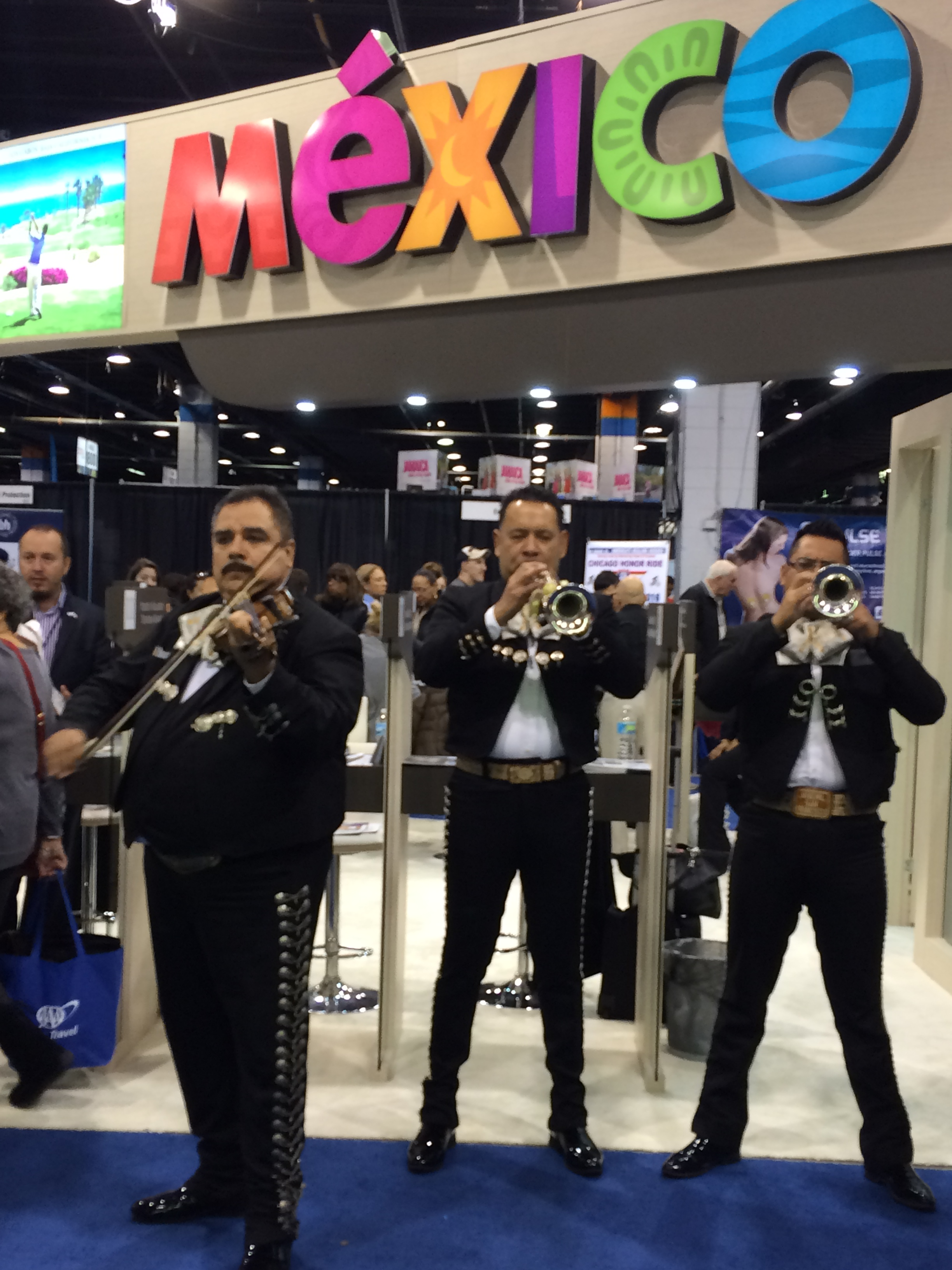 Mariachis at the Chicago Travel & Adventure Show, 2016.