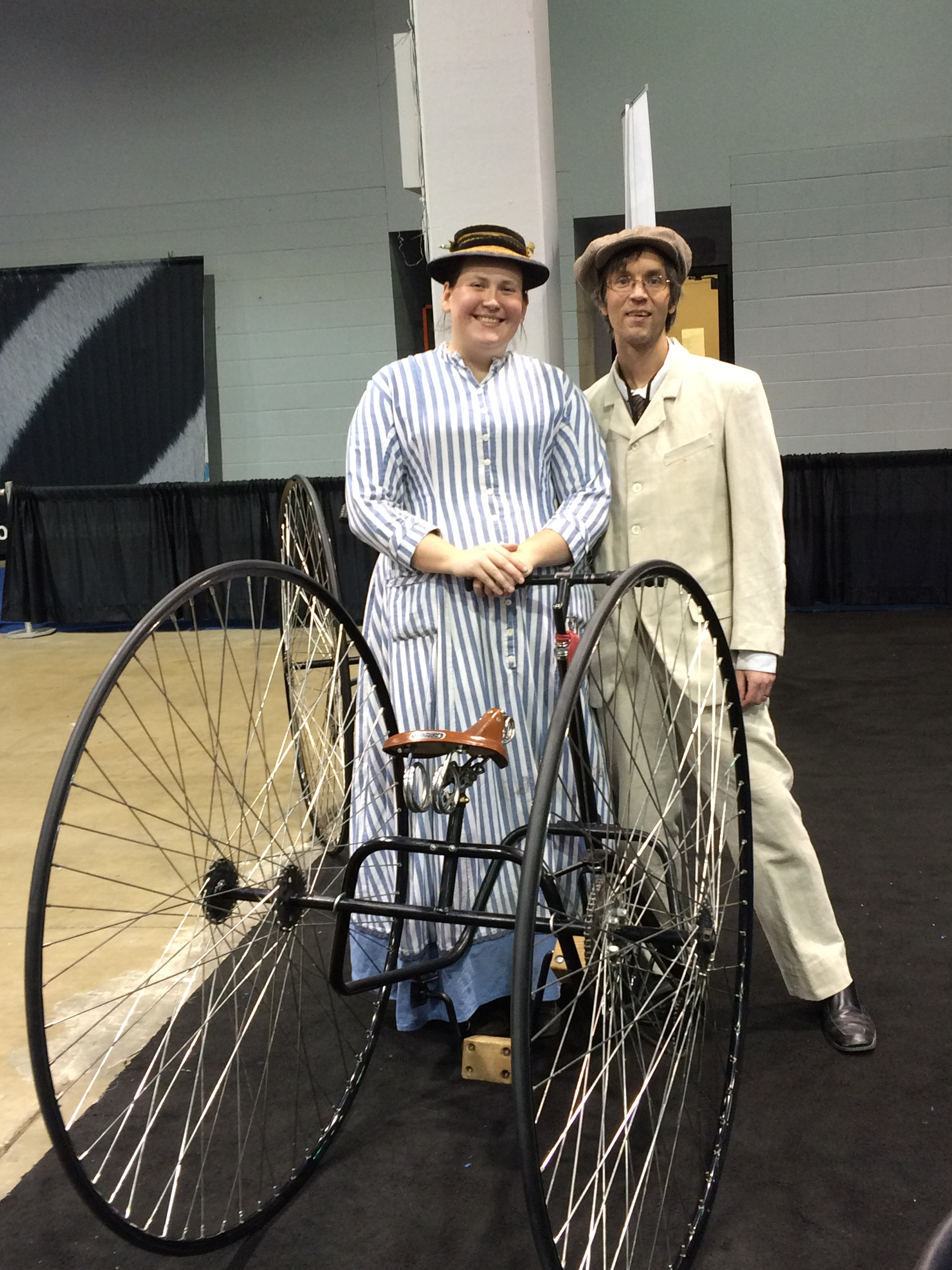 Old World Wisconsin invited attendees to take a spin on an old-timey tricycle.