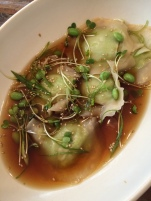 Edamame dumplings at True Food Kitchen.
