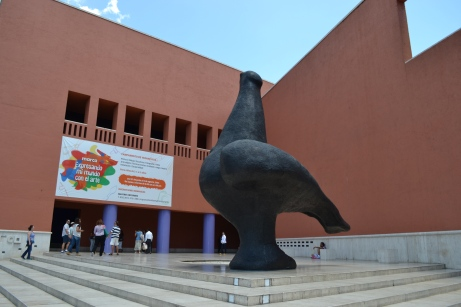 La Paloma, the Dove, bronze sculpture by Juan Soriano