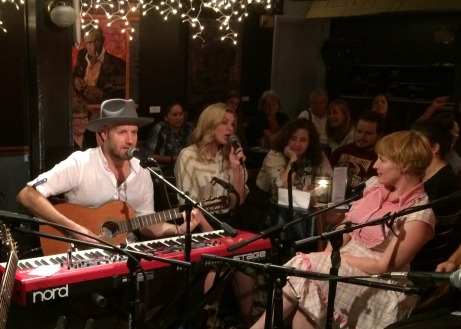 Gabe Dixon and Emily West; Leigh Nash in pink