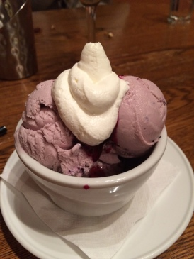 Huckleberry ice cream, Montana Country